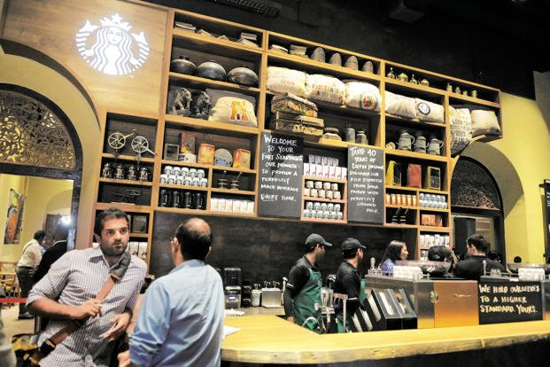 Starbucks' Mumbai store. In its 40-year history, India is the first where Starbucks is sourcing and roasting its coffee locally. Photo: Abhijit Bhatlekar/Mint
