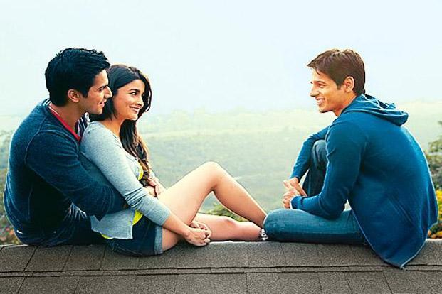 Unconvincing: (from left) Varun Dhawan, Alia Bhatt and Sidharth Malhotra in Student of the Year ((from left) Varun Dhawan, Alia Bhatt and Sidharth Malhotra in Student of the Year)
