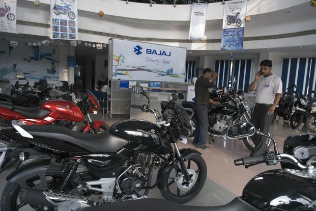The firm's quarterly results highlight a jump in market share between April and September in both Pulsar and Discover motorcycle brands. Photo: Mint