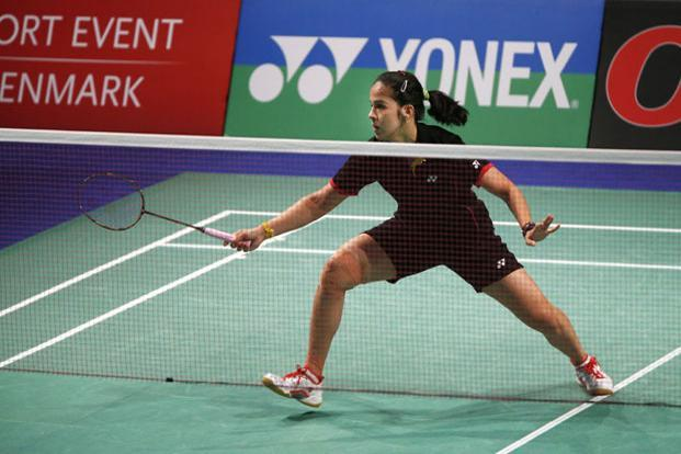 Saina, who was competing in her first tournament after the London Games, won 21-17,  21-8 to notch up her second Super Series Premier title.  Photo: AP
