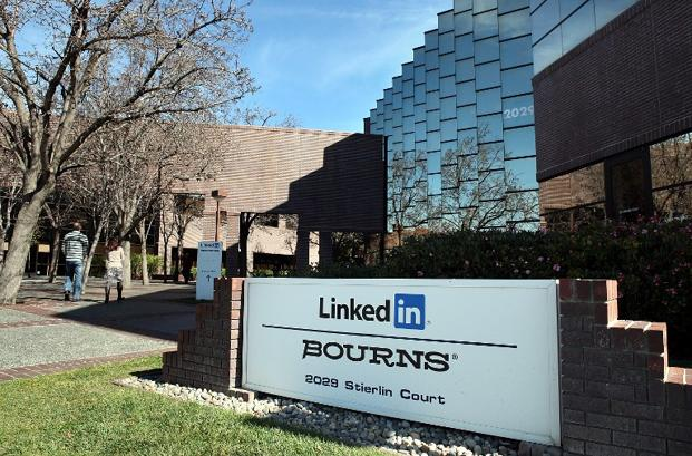 A file photo of LinkedIn's headquarters in Mountain View, California. Photo: AFP