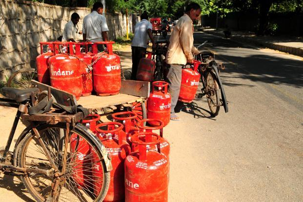The subsidized price for a domestic cooking gas cylinder in Delhi is Rs 410 and the market price is more than double that at Rs 894. The price of a commercial LPG cylinder is Rs 1,536.50 in Delhi.