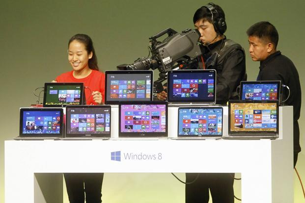 Microsoft will hold a gala party in New York City later on Thursday for the midnight launch of Windows 8 and devote a massive marketing budget to promoting the operating system. Photo: Reuters