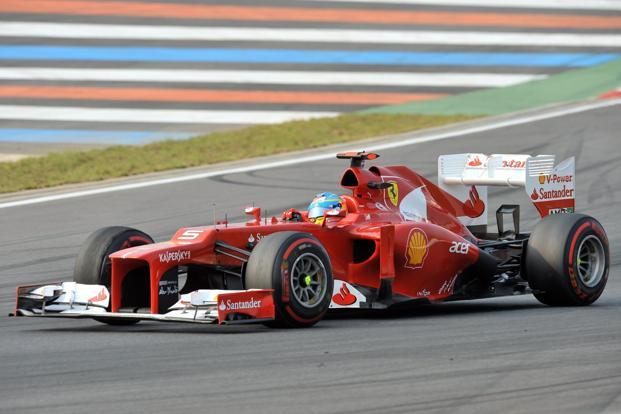 Ferrari driver Fernando Alonso of Spain steers his car during the Formula One Korean Grand Prix in Yeongam on 14 October 2012. Photo: AFP (AFP)