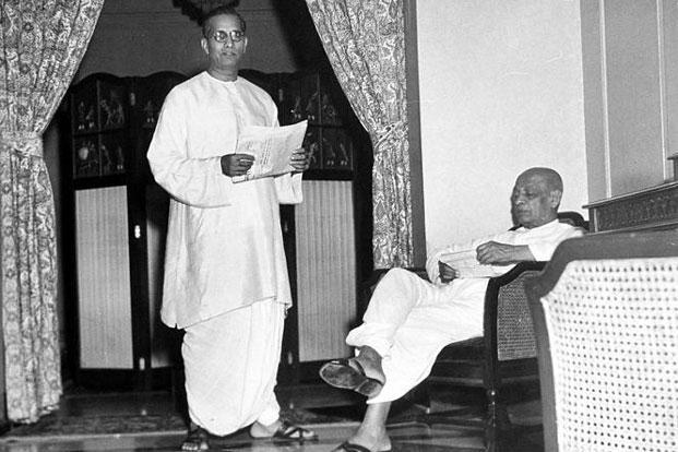 The patriarch: G.D. Birla (left) with Vallabhbhai Patel in 1946. Photo: Margaret Bourke-White/Time & Life Pictures/Getty Images.