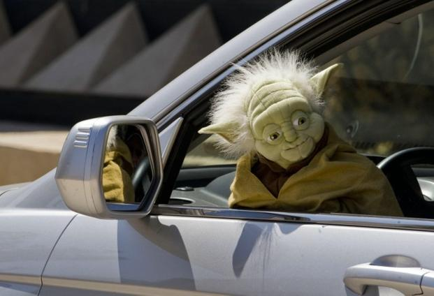 A Yoda muppet at a <i>Star Wars </i>celebration on 10 September 2011 in Mexico. AFP
