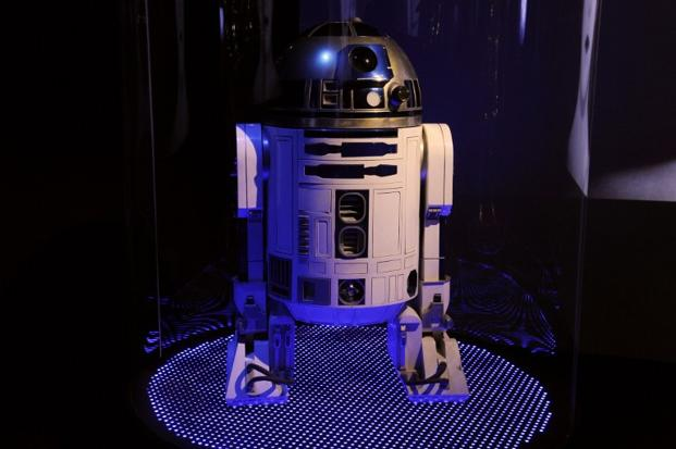 R2D2 at an exhibition titled <i>Et l&rsquo;homme crea le robot</i> (And man created the robot) at the Arts et Metiers Museum, Paris, on 29 October. AFP
