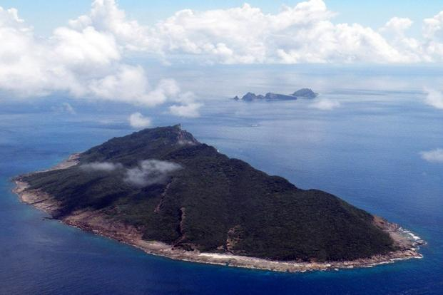 An aerial shot of disputed islands known as Senkaku in Japan and Diaoyu in China in the East China Sea. Photo: AFP