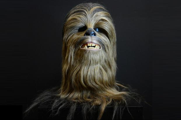 Peter Mayhew's original Chewbacca head went up for for auction at Profiles In History in Calabasas, Los Angeles, on 19 July. AFP