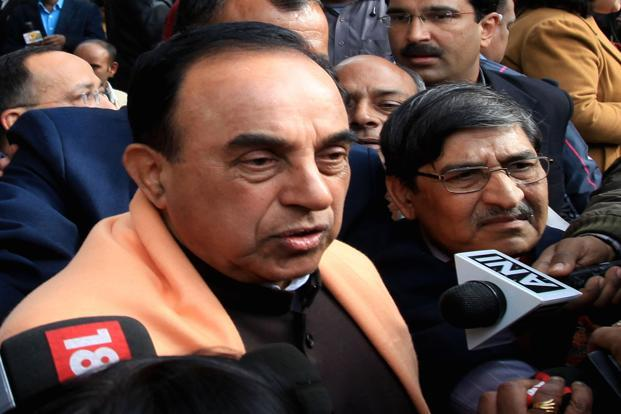 Janata Party chief Subramanian Swamy also alleged that the AICC loaned Associated Journals money to extinguish the liabilities of the company to the tune of more than `90 core. Photo: HindustN Times