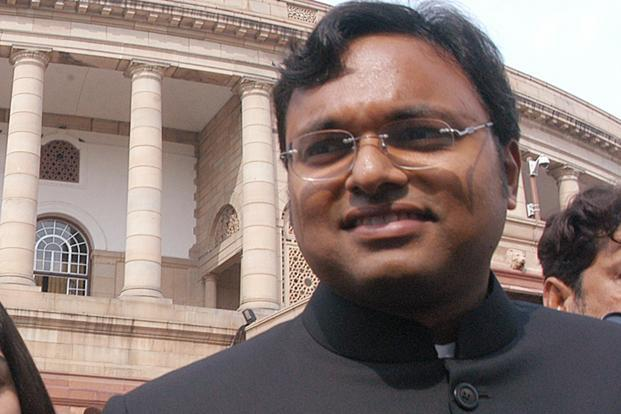 Ravi Srinivasan was arrested on Tuesday for posting tweets against Karti Chidambaram (above). He was later released on bail the same day. Photo: Hindustan Times