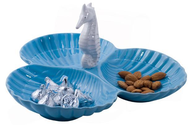 Renovation Factory, Khan Market, New Delhi: Three section sea-horse dish, Rs2,400.