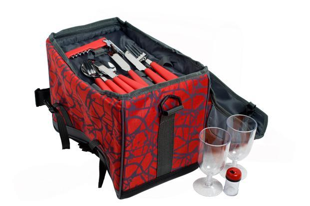 CMYK, Meherchand Market, Lodhi road, New Delhi: Picnic bag with plates, bowls, wine glasses, cutlery and essentials like knife and corkscrew, Rs3,250.
