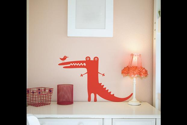 Designdeal.com: Perky crocodile wall sticker, 16x10 inches, Rs530.