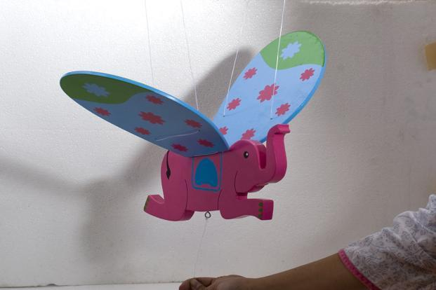 Good Earth, Select CityWalk mall, Saket, New Delhi; Raghuvanshi Mills, Senapati Bapat Marg, Lower Parel, Mumbai; UB City, Vittal Mallya Road, Bangalore: Fly High Haathi for the children's room, Rs1,800.