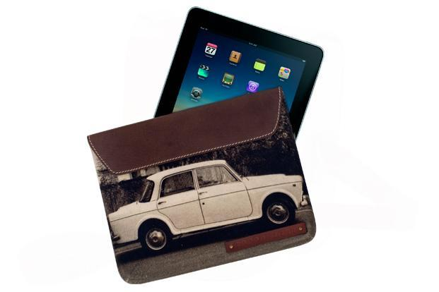 Nappa Dori, Meherchand market, Lodhi Road and Hauz Khaz village, New Delhi: iPad case in leather and canvas, Rs3,200.