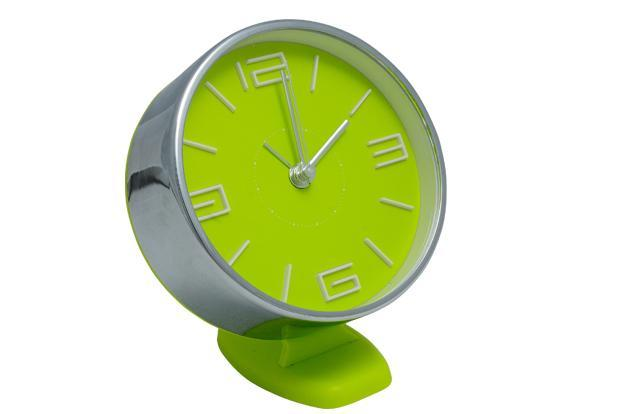 Pure Home and Living, DLF Place, Saket, New Delhi; Infiniti 2 Mall, Malad (West), Mumbai; and Inner Ring Road, Koramangala, Bangalore: Neon green table clock, Rs1,650.