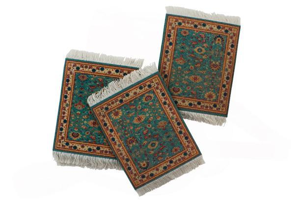 Silk Road and Beyond, N-Block Market, Greater Kailash, Part-1, New Delhi: Rug coasters, set of 4, Rs1,695.