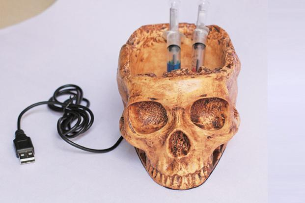 Tappu ki Dukaan: Skull hubwith four USB ports and a pen stand, Rs1,499.