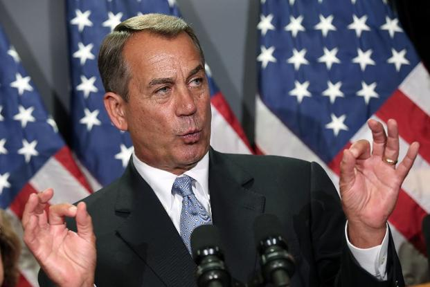 A file photo of US Speaker of the House John Boehner in Washington, DC. Photo: AFP