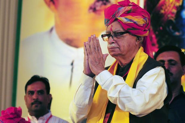 L.K. Advani's political remarks come at a time when the BJP has been wracked by an internal crisis surrounding its current party president Nitin Gadkari. Photo: Ramesh Pathania/Mint