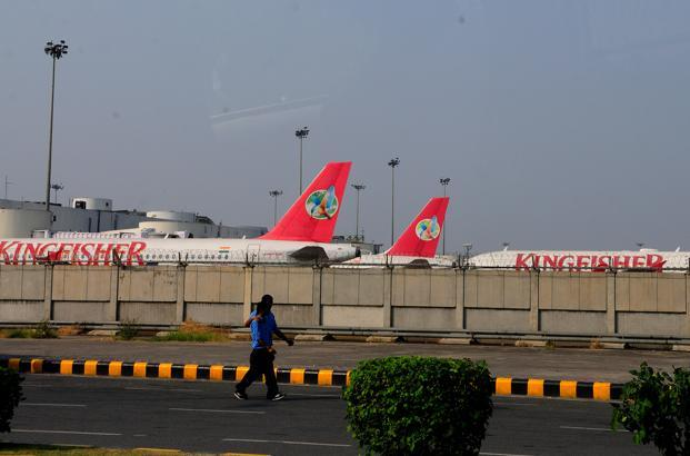 The airline's revenue plunged to `200 crore in the September quarter from `1,552.87 crore a year ago. Photo: Ramesh Pathania/Mint