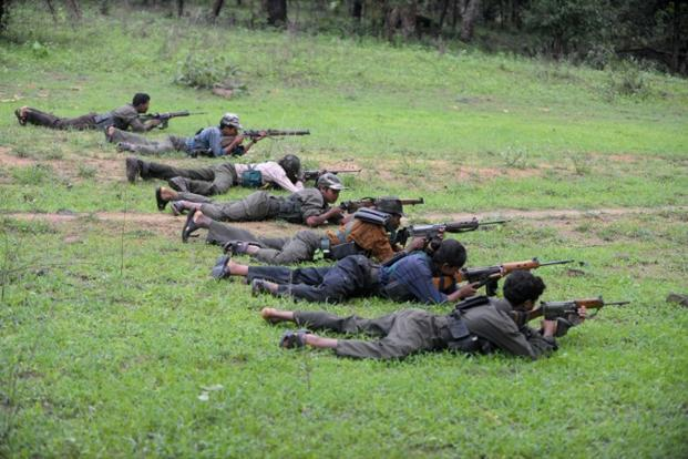A file picture of Maoists at a training camp in Chhattisgarh. Photo: AFP