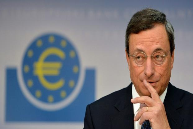 ECB President Mario Draghi says economic activity in the euro area is expected to remain weak. Photo: AFP