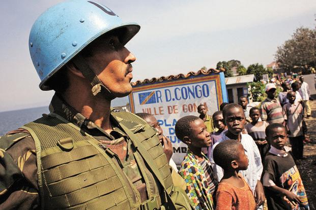An Indian UN peacekeeper in Goma, Congo. Photo: John Moore/Getty Images
