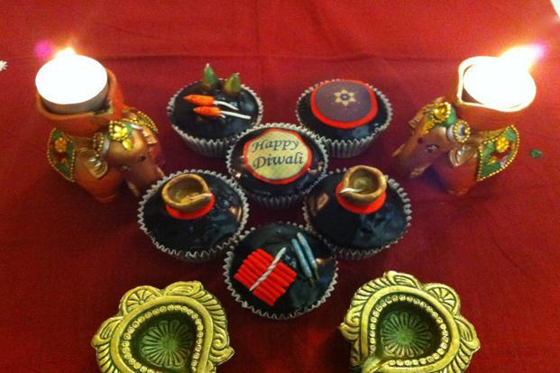 <b>Cup-a-cake:</b> Enjoy crackers and diya sugarcraft on cupcakes, box of six Rs 600, at www.cupacake.in or call 9901791788 ( Bangalore).