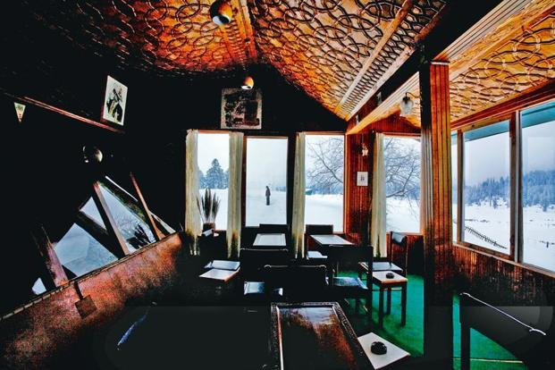A picture of a man taken through the window of a hotel in Gulmarg in 2009. Photo: Amit Mehra