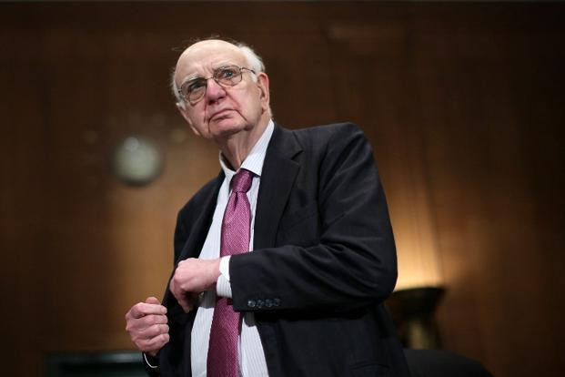 Former US Federal Reserve Board Chairman Paul Volcker has argued, somewhat tongue-in-cheek, that the only useful financial innovation in recent years has been the ATM. Photo: Alex Wong/Getty Images/AFP