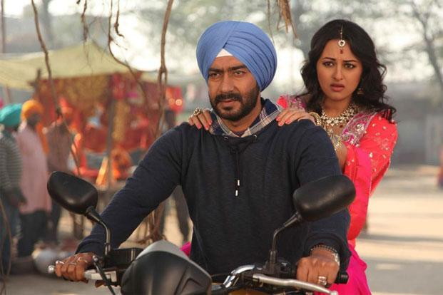 Ajay Devgn and Sonakshi Sinha in a still from the movie