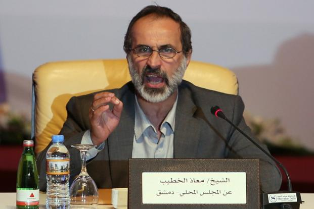 Ahmed Moaz al-Khatib, a moderate Muslim cleric, was elected head of the new grouping. Photo: AFP