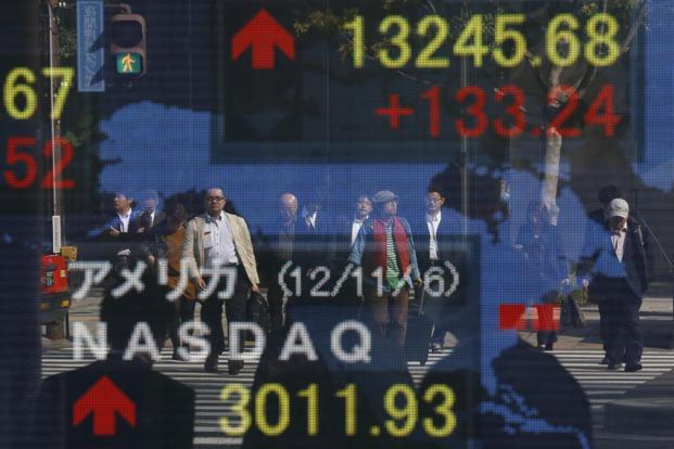 The Dow Jones industrial average fell 185.23 points, or 1.45%, to 12,570.95 at the close. The S&P 500 dropped 19.04 points, or 1.39%, to 1,355.49. Photo: Reuters