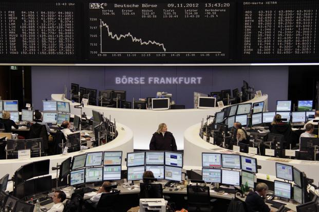 London's FTSE 100, Frankfurt's DAX and Paris's CAC-40 were between 0.2 and 0.5% lower. Photo: Reuters