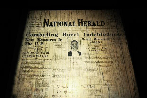 A copy of the 'National Herald' issue dated 1 November 1938. Photo: Priyanka Parashar/Mint