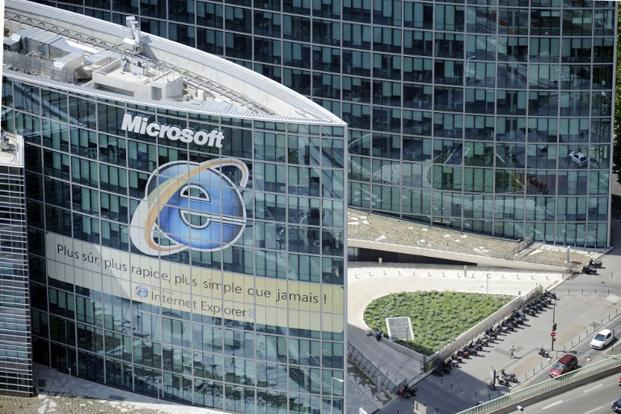 A file photo of Microsoft's Paris headquarters. Photo: Boris Horvat/AFP