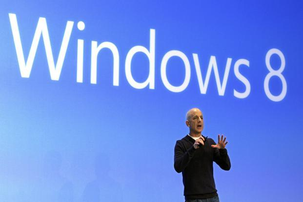 A 25 October photo of Steven Sinofsky at the launch of Microsoft Windows 8 in New York. Photo: AP