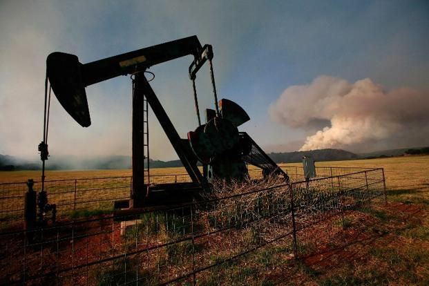 An oilfield pump jack in Graford, Texas. It may go without saying, but burning the US oil rather than Saudi oil brings few environmental advantages. Photo: Tom Pennington/Getty Images/AFP