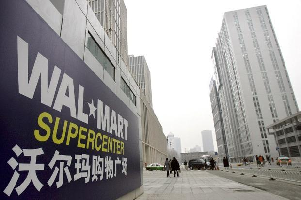 A file photo of a Wal-Mart outlet in Beijing. Photo: AFP