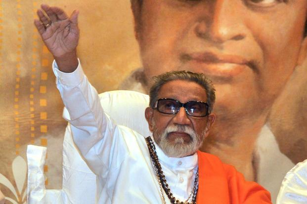 A file photo of Shiv Sena chief Bal Thackeray. Photo: AFP