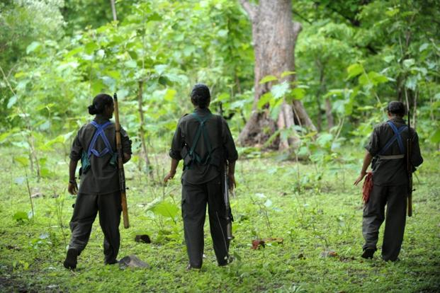 A file photo of Maoists in Chhattisgarh. Photo: AFP