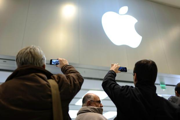 Since hitting a record high of $705.07 a share in September, Apple has lost about a quarter of its value. Photo: AFP