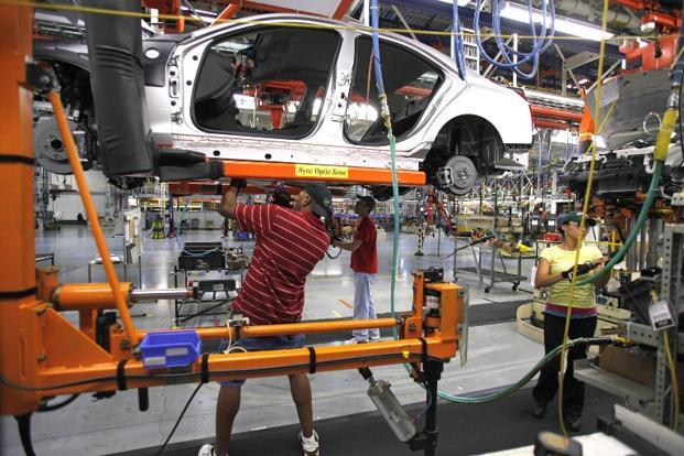 Manufacturing production fell 0.9% as motor vehicle output declined for a third straight month. Photo: AFP
