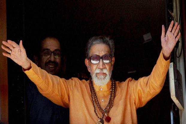 A file photo of Bal Thackeray. Photo: AP