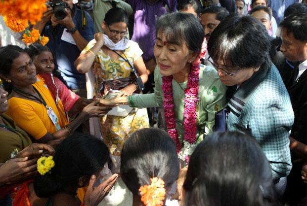 Suu Kyi concluded her four-day visit to India on Sunday. Photo: PTI