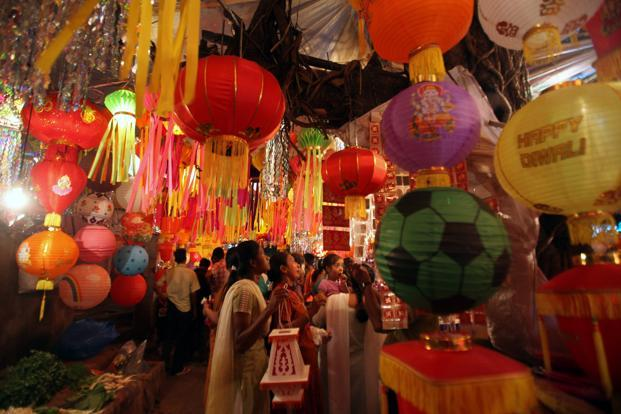 The days between Diwali and Dusshera failed to lift the mood among consumers or retailers. Photo: Hindustan Times