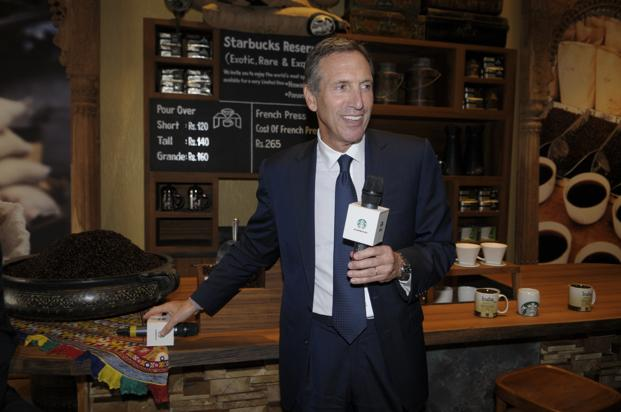 Starbucks founder and chief executive Howard Schultz at the opening of India's first Starbucks store at in south Mumbai on 19 October. Photo: Abhijit Bhatlekar/Mint