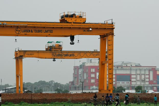 L&T shares were trading at `1,552.15 at 3.25pm on BSE. Photo: Priyanka Parashar/Mint